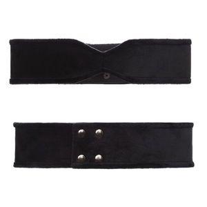 BCBGMAXAZRIA Velvet Snap Belt M 🖤 NWT